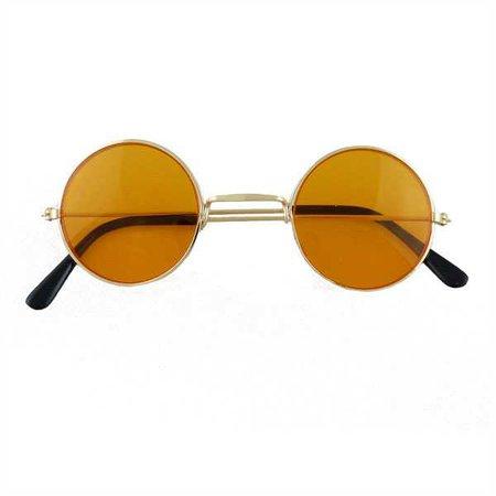 60s 70s Round Lennon Glasses Silver Frames Blue Purple Red Green Black Yellow | eBay