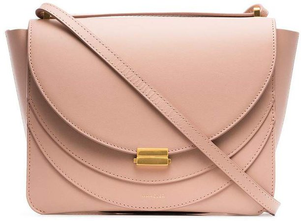 pink Luna Leather Shoulder Bag