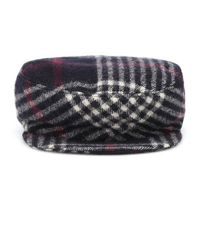 Naly plaid wool hat