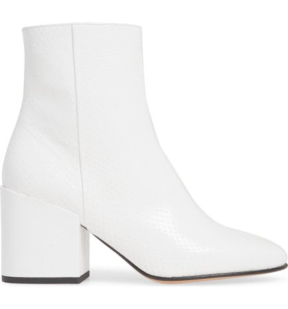 Dries Van Noten Snake Embossed Block Heel Bootie (Women) | Nordstrom