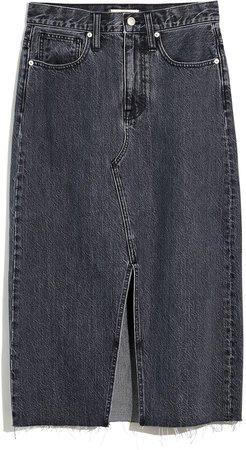 Rigid Denim A-Line Mini Skirt