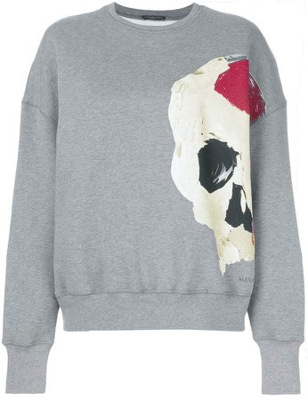 abstract skull print sweatshirt