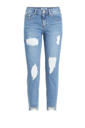 Unbalanced Hem Jeans Gr. XS
