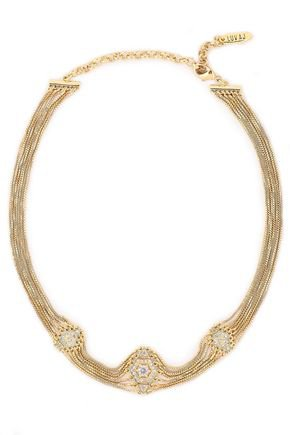 14-karat gold-plated crystal choker | LUV AJ | Sale up to 70% off | THE OUTNET