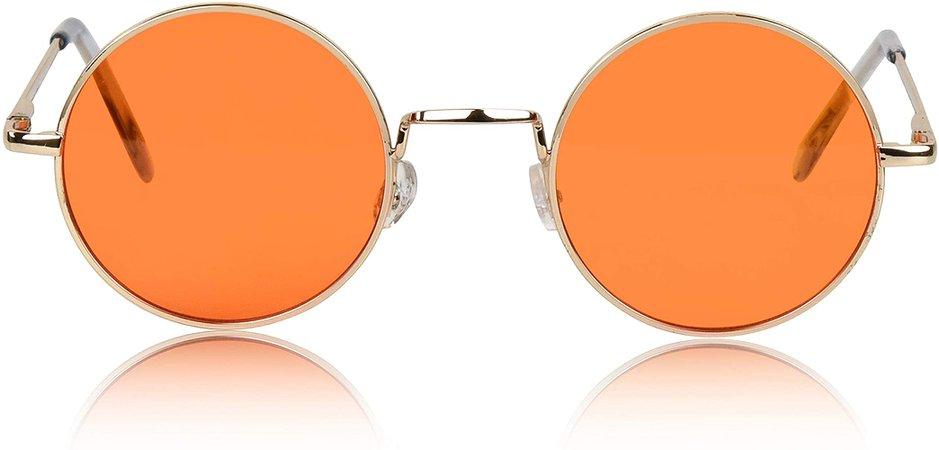 Amazon.com: Hippie Glasses Hippy Fashion Sunglasses 70's 60's Cool Funky Shades quavo Orange: Clothing