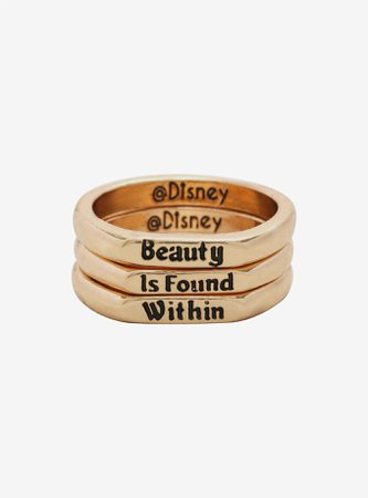 Disney Beauty And The Beast Beauty Within Stackable Ring Set