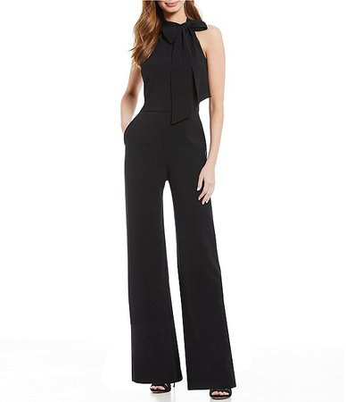 Vince Camuto Sleeveless Bow Neck Jumpsuit with Pockets | Dillard's