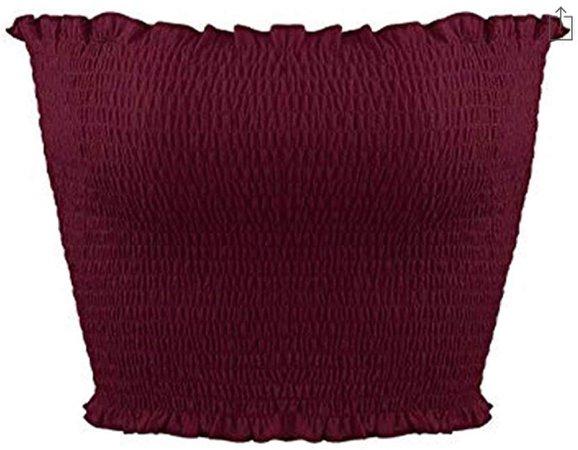 women's maroon crop top