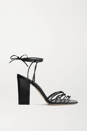 Black Daisy leather sandals   aeyde   NET-A-PORTER