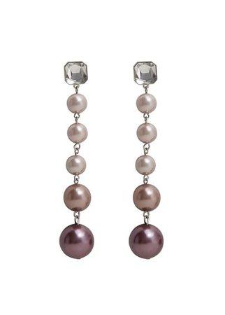 Violeta BY MANGO Pearl-effect crystal earrings
