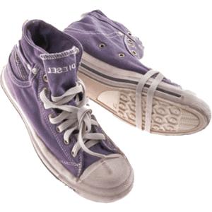 purple high top sneakers png
