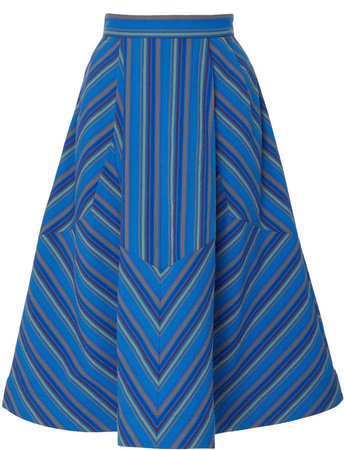 Batman Striped Cotton Midi Skirt