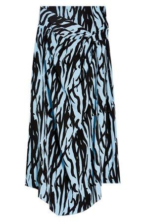 Topshop Zebra Print Sarong Midi Skirt | Nordstrom