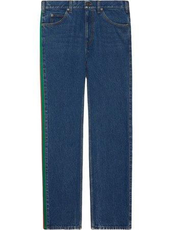 Gucci side-stripe straight-leg jeans - FARFETCH