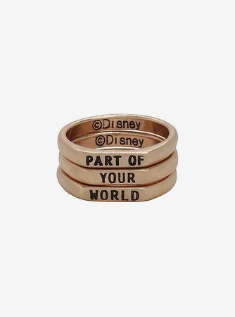 Disney The Little Mermaid Part Of Your World Stackable Ring Set