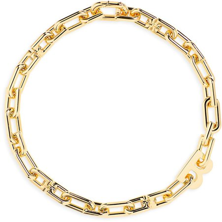 'B' Chain Choker Necklace