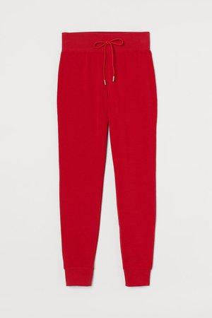 Cotton-blend Joggers - Red - Ladies | H&M CA