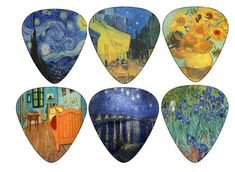 Pinterest (Pin) (7) guitar picks vincent van gogh