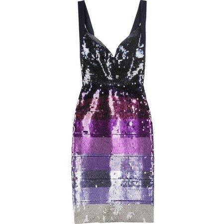 Herve Leger Sequined bandage dress (€640)
