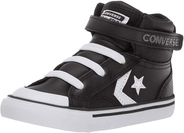 Amazon.com: Converse Boys Infants' Pro Blaze Strap Leather High Top Sneaker, Black/White/White, 7 M US Toddler: Shoes