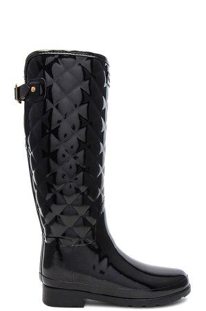 Refined Gloss Quilt Tall Boot