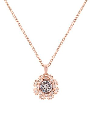 Ted Baker London | Swarovski Crystal Embellished Sirou Crystal Daisy Lace Pendant Necklace | Nordstrom Rack