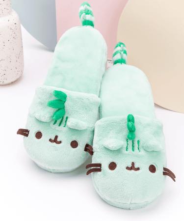 Pusheenosaurus Plush Slippers – Pusheen Shop