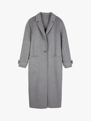 hush Double Split Coat, Grey at John Lewis & Partners