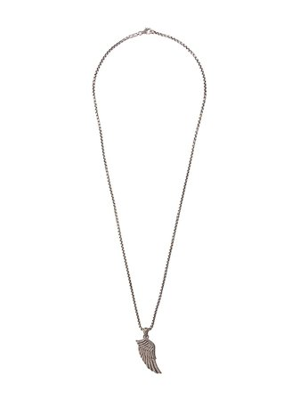 John Hardy Eagle Wing Pendant Diamond Pavé Necklace NMP902852DI Silver   Farfetch