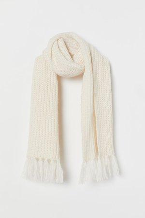 Wool-blend Scarf - Cream - Ladies | H&M US
