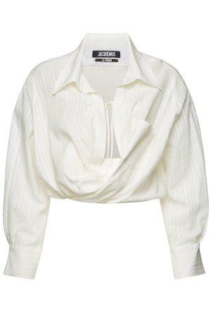 Jacquemus - La Chemise Siena Blouse with Cotton and Linen - white