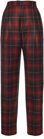 Etro Plaid Tapered Wool Pants