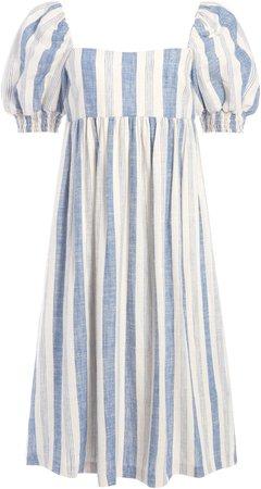 Bauery Puff Sleeve Midi Dress