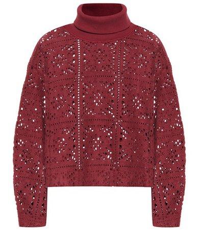 Lace turtleneck sweater