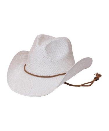 Urbanista White & Brown Band Cowboy Hat   Zulily