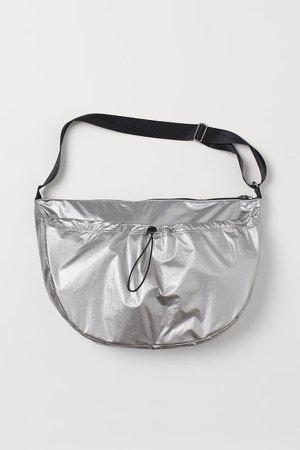Large Shoulder Bag - Silver