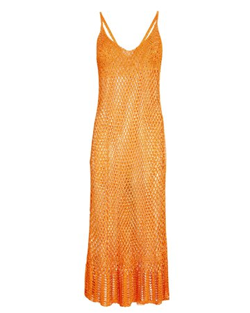 Cult Gaia Silena Crochet Midi Dress | INTERMIX®