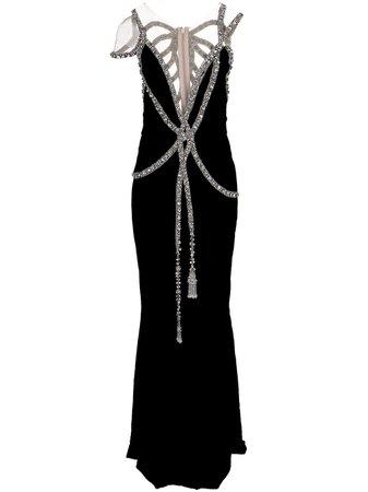 Marchesa, Embellished Velvet Dress