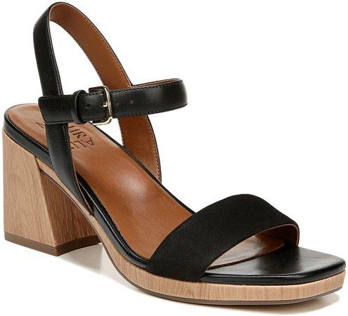 Rose Block Heel Sandal