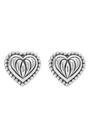 LAGOS Caviar Heart Stud Earrings | Nordstrom