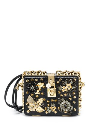 Dolce & Gabbana Embellished Crocodile & Ayers Box Clutch