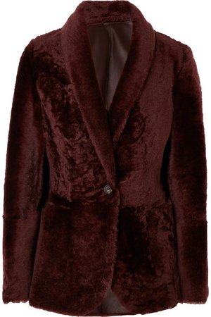 Brunello Cucinelli | Shearling blazer | NET-A-PORTER.COM