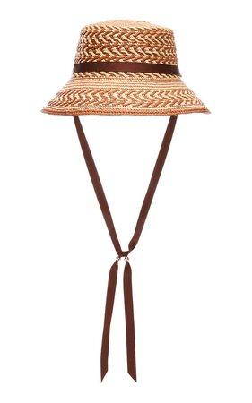 Lamp Shade Grosgrain-Trimmed Straw Panama Hat by Sensi Studio | Moda Operandi