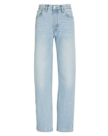 RE/DONE High-Rise Loose Straight Jeans | INTERMIX®
