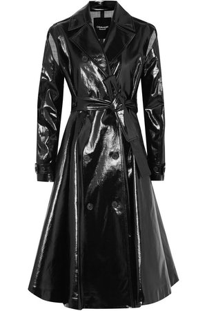 Double-breasted coated cotton-blend trench coat   CALVIN KLEIN 205W39NYC   Sale up to 70% off   THE OUTNET