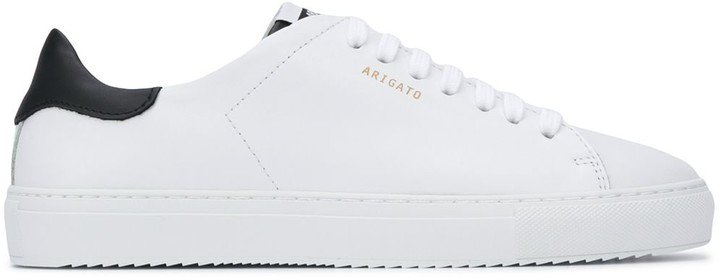 White Leather Lace Trainers
