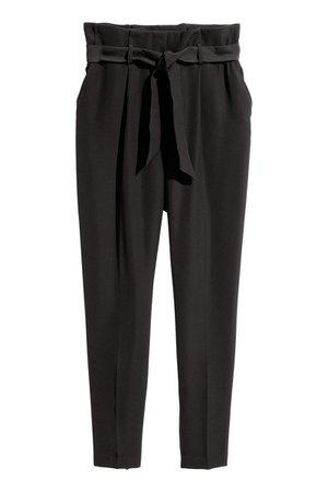 H&M Black Paper Bag Pants