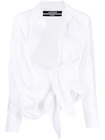 Shop white Jacquemus La chemise Bahia blouse with Express Delivery - Farfetch