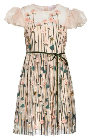 RED Valentino Floral Embroidered Dress | Nordstrom