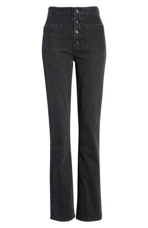Reformation Elsie High Waist Straight Leg Jeans (Mojave)